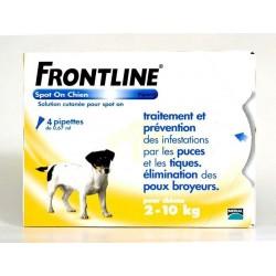 FRONTLINE - Chiens de 2 à 10 Kg - Pipettes