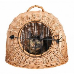 Corbeille Igloo avec grillage pour chat