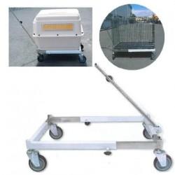 Chariot pour cage de transport