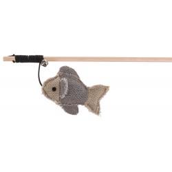 BE NORDIC - Jouet pour chat canne à pêche avec poisson inspiration scandinave  - 1